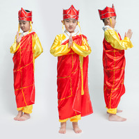 Chinese Shinning Tang Monk Journey To The West Haloween Children Costume Cosplay Men Robe Chinese Famous Brand Buddhist Monk 18