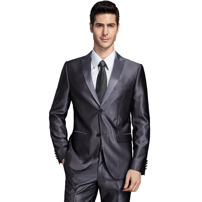 2017 moški ženin poročno obleko jakna plašč za moške slim fit - Moška oblačila - Fotografija 2