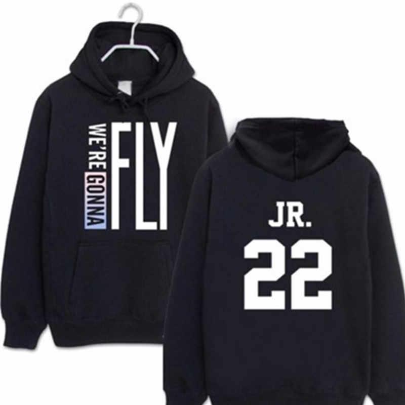 GOT7 летать в Сеул концерт Джексон BAMBAM same paragraph с капюшоном модная одежда