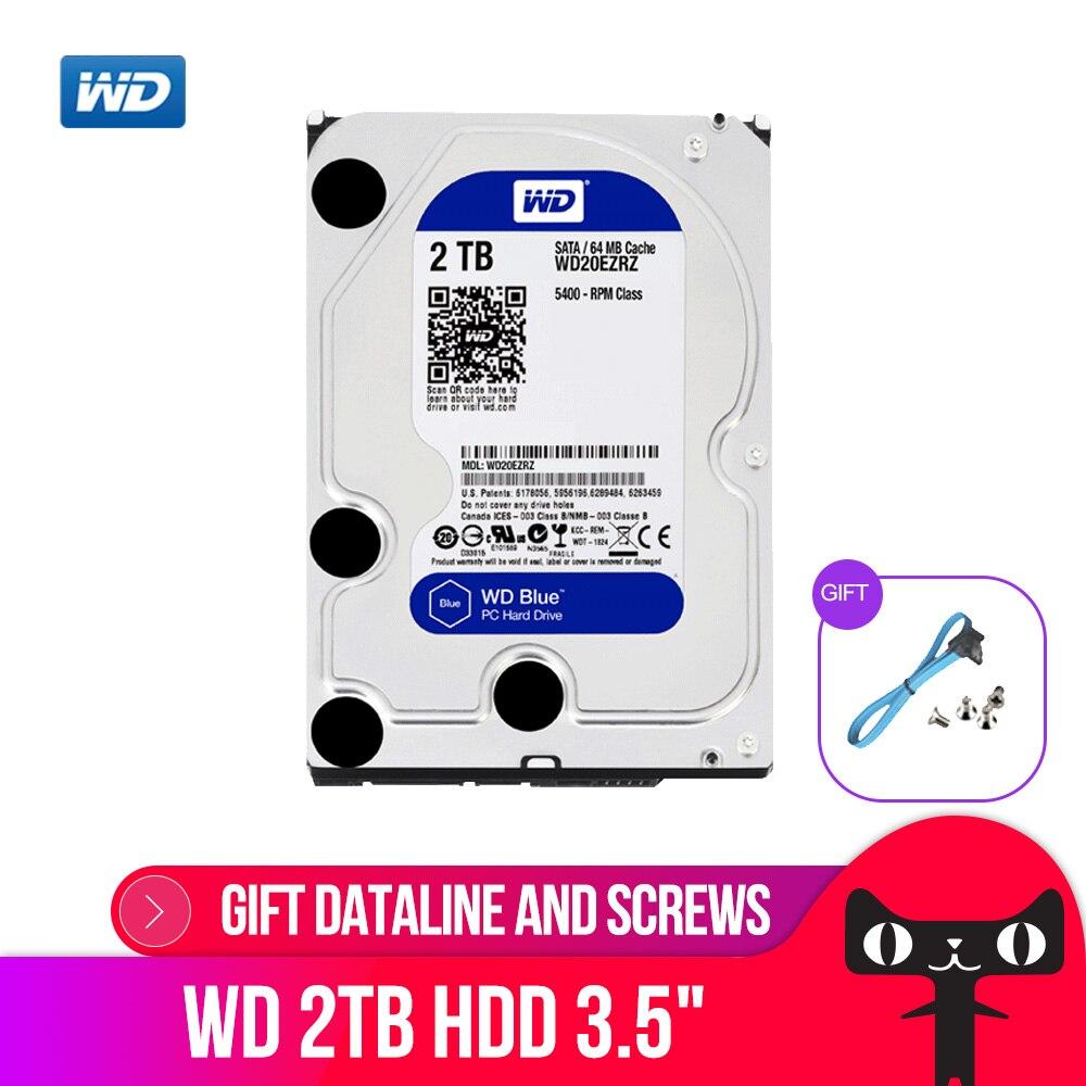 DEO 2 tb BLEU HDD 3.5 5400 rpm 64 m Cache SATA III 6 gb/s Disque Dur Interne Disque 2000 gb HD Disque Dur pour Ordinateur De Bureau WD20EZRZ