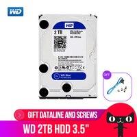 WD 2TB BLUE HDD 3.5 5400 RPM 64M Cache SATA III 6Gb/s Internal Hard Drive Disk 2000GB HD Harddisk for Desktop Computer WD20EZRZ