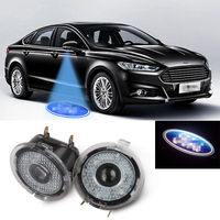 2pcs Car Led Logo Welcome Laser Projector Ghost Shadow Light For Ford F150 Explorer Everest Ranger Fusion Edge etc