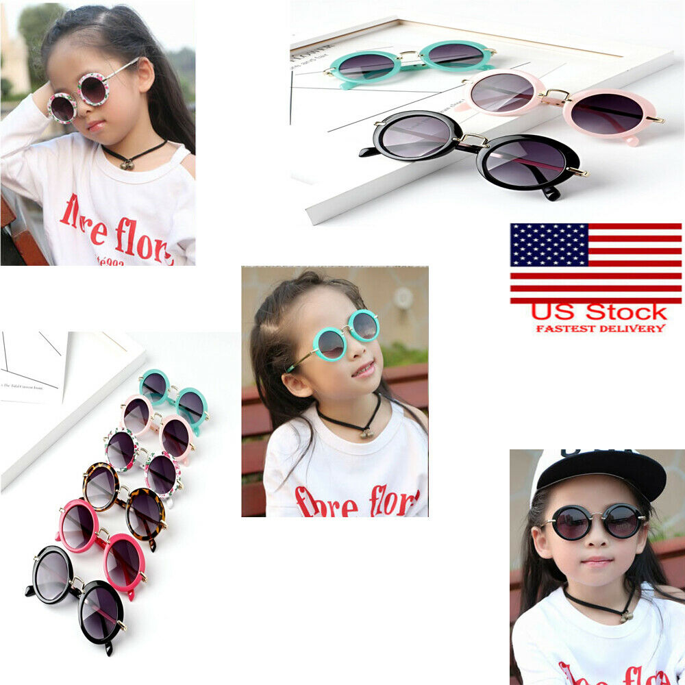 Kids Sunglasses Retro Summer Kid Toddler Sunglasses Metal Frame UV400 Protection