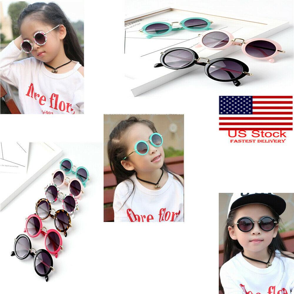 Kids Sunglasses Retro Summer Kid Toddler Sunglasses Metal Frame UV400 Protection