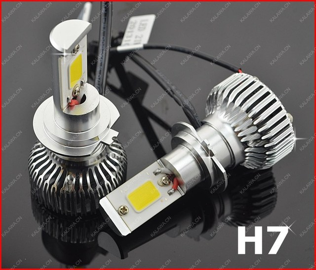 one pair H7 42W 2nd Generation COB LED Car Headlight Car Fog light , lamp 3600lm 6000K GGG