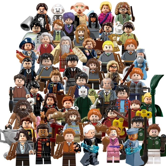 For Legoing Harri potter Figures Fantastic Beasts Rubeus Dobby Hagrid Seamus Finnigan Hermione Bricks Model building Blocks Toys