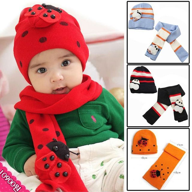 New Hot Beatles hat baby cap children hat scarf  two piece set Toddler Boys & Girls hat and scarf  Free shipping