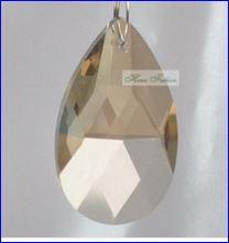 200pcs/lot 38mm tear pendant Cognac color Crystal chandelier parts crystal Prism pendant free shipping