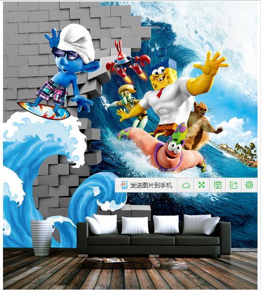 Popular Spongebob Wall Murals-Buy Cheap Spongebob Wall