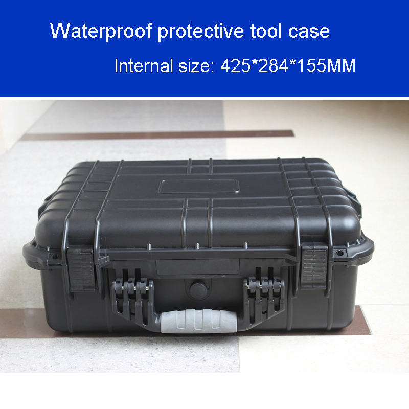 Tool Case Toolbox Suitcase Impact Resistant Sealed Waterproof Plastic Case Equipment Box Camera Case Meter Box With Pre-cut Foam