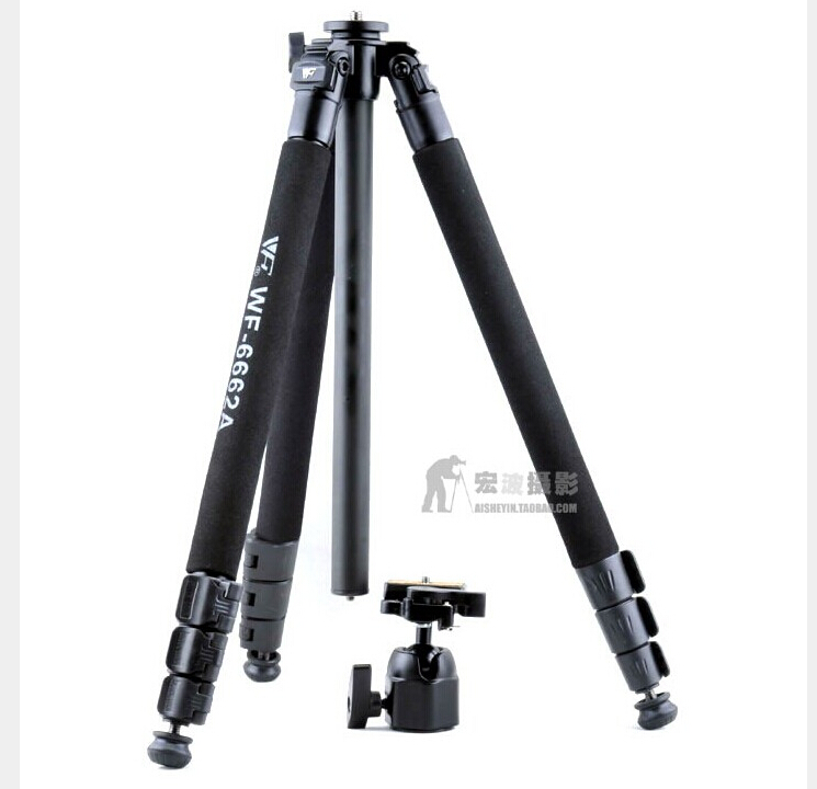 Photography professional Weifeng WF 6662A Tripod ball head for camera Camcorder Binoculars video VCR Phone Clip