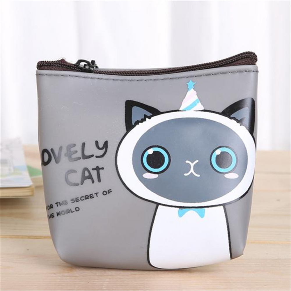 Coin Purses & Holders Cute Fashion Women Girls Cat Zipper Silicone Coin Purse Card Holder Pouch Wallet Mini Bag For Women In Short Supply