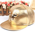 The new leather cartoon flat along hip-hop cap Children's baseball cap