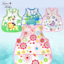 TOP baby rice apron food pocket EVA vest Squishy toys waterproof bibs cloth meal draw clothing cover cartoon animal Kids feed(China)