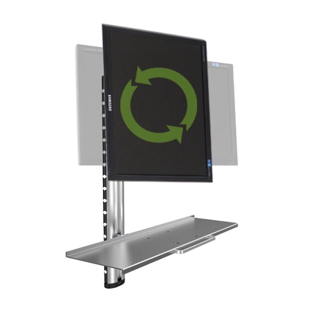 """Honghua 13 """"-27"""" wall mount alumínio ergonômico dobrável sit-stand titular do monitor + teclado full motion braço de monitor de suporte bracket"""