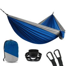 Portable Parachute Ultralihgt Double Hammock Outdoor Furniture Picnic Mat Camping Hammock Outdoor Hammock Soft Bed Swing Chair(China)