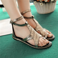 Designer Rome Woman Five Stars Ring Toe Sandals Girls Casual Comfort Date School Flat Sandals Shoes