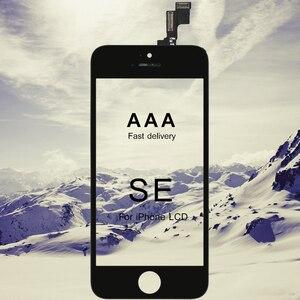 Image 1 - 10pcs Tutti Testati AAA CRISTALLI LIQUIDI Per il iPhone SE Display LCD con Vetro Touch Screen Digitizer Assembly Per il iPhone SE lcd di qualità AAA