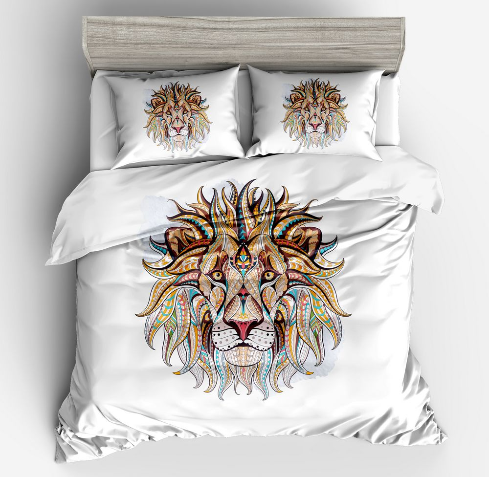 Tiger Bedding Set 3D Modern White Bedding Sets Double king Hotel Bohemian Bedding Cheap bed Duvet Cover Pillowcase Home TextilesTiger Bedding Set 3D Modern White Bedding Sets Double king Hotel Bohemian Bedding Cheap bed Duvet Cover Pillowcase Home Textiles