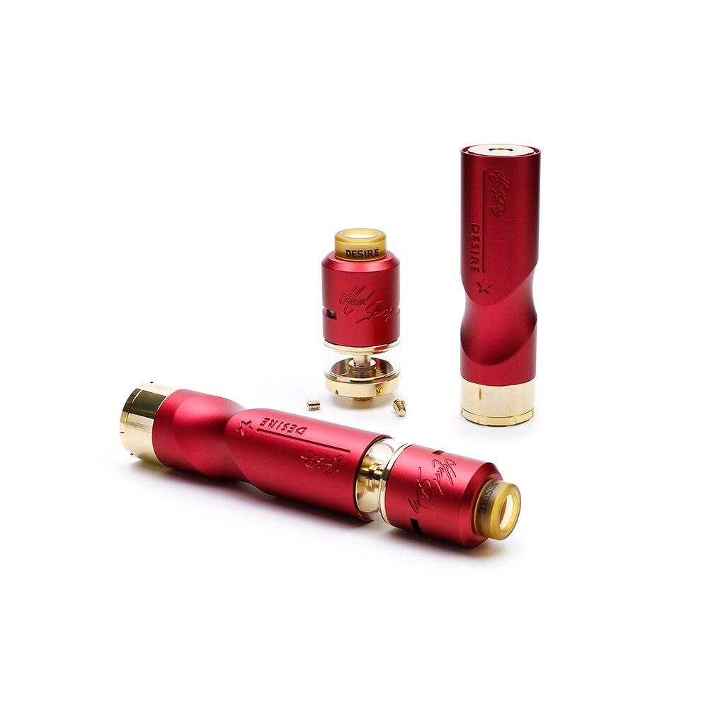 bilder für 100% ursprünglichen Wunsch Mad Dog RDTA Kit mit 7 ml kapazität Desire Mad Dog RDTA zerstäuber angetrieben durch einzelne 18650 batterie