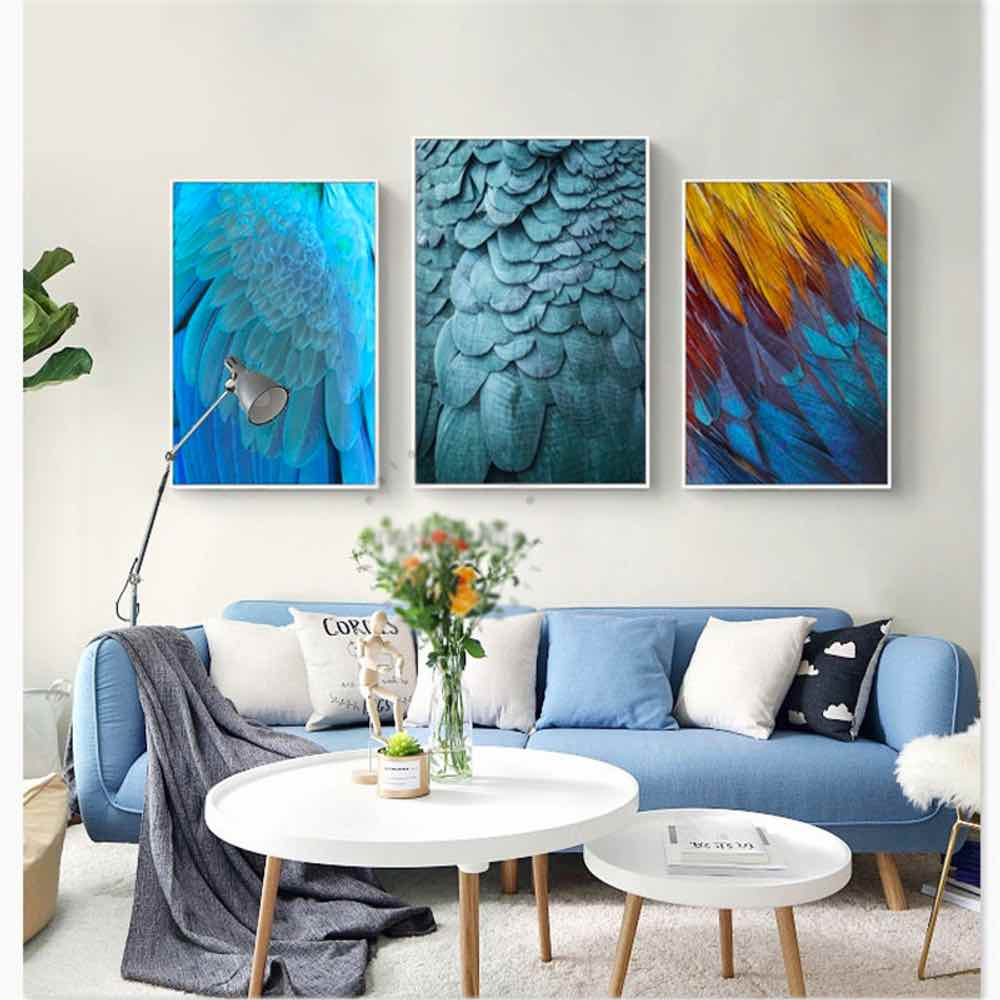 Peacock Living Room Us 3 36 30 Off Haochu Art Feather Photo Peacock Painting For Living Room Home Decor Painting Print Poster Simple Nordic Wall Picture Canvas In