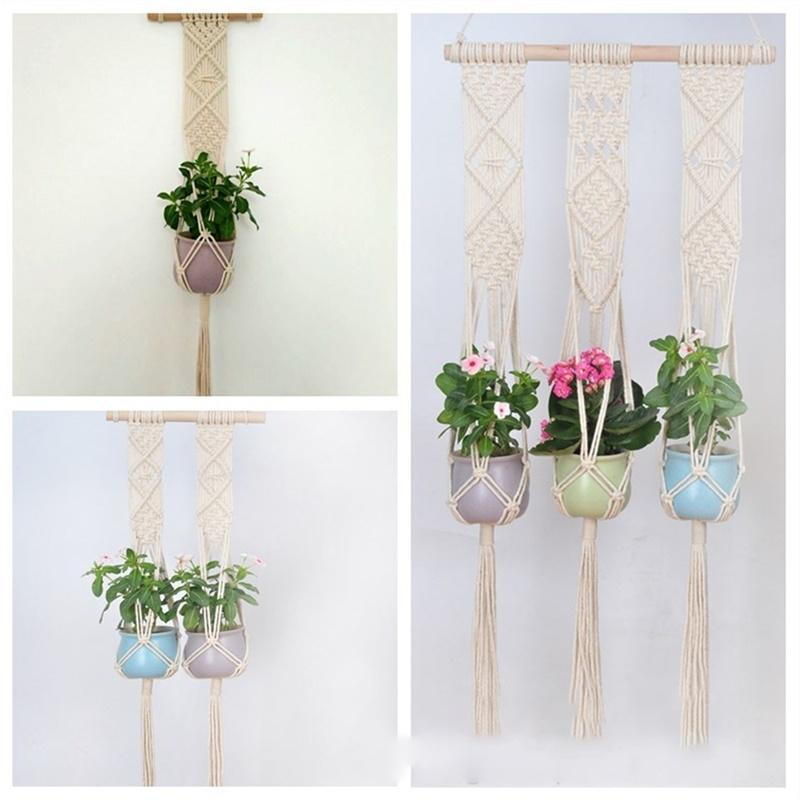 Lan Lan Handmade Weave Rope Plants Hanger Indoor Outdoor Hanging Planter Flowerpot Holder 25 by Lan Lan