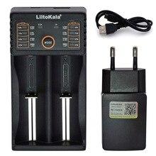 Liitokala Lii402 Lii202 Lii100 LiiS1 18650 зарядное устройство 1,2 V 3,7 V 3,2 V AA/AAA 26650 NiMH литий-ионная батарея умное зарядное устройство 5V 2A EU Plug