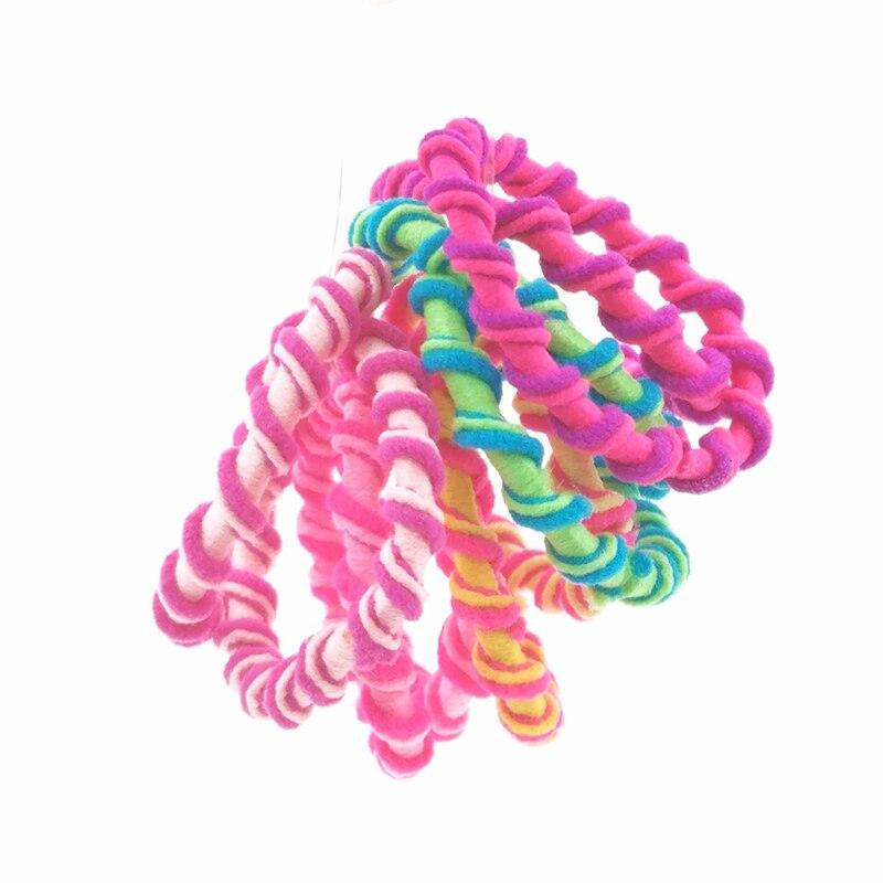 Лот 50 шт. Женские аксессуары для волос Красочные детей держатели волос резинки для волос Симпатичные резиновые повязка на голову для девочек Галстук ГУМ Размеры 3 см