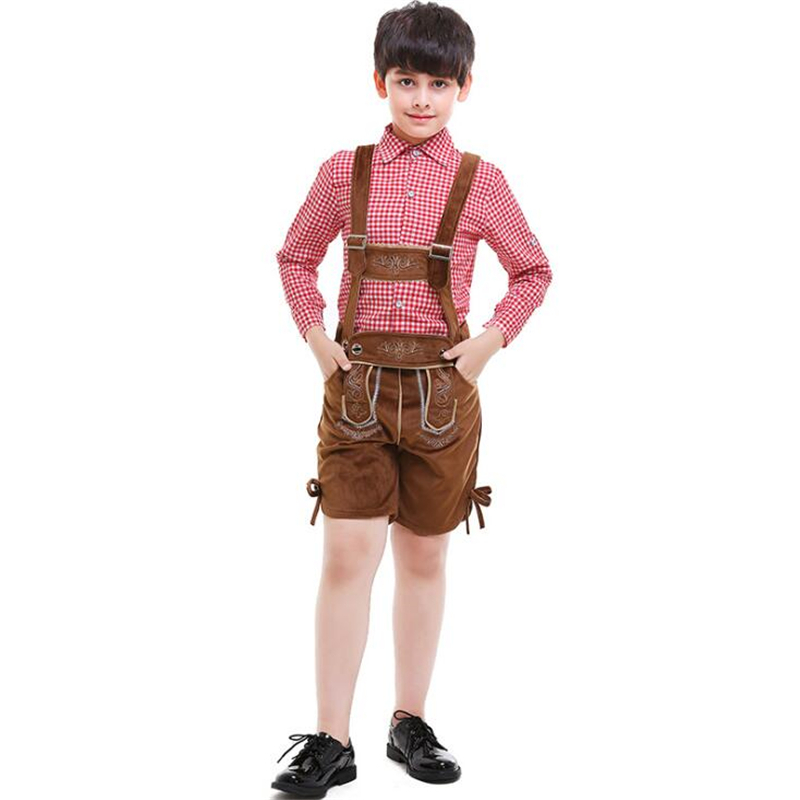 Genuine Deluxe Oktoberfest Costume For Kids Fancy Boy Germany Beer Festival Cosplay Child Carnival Halloween Party Clothing