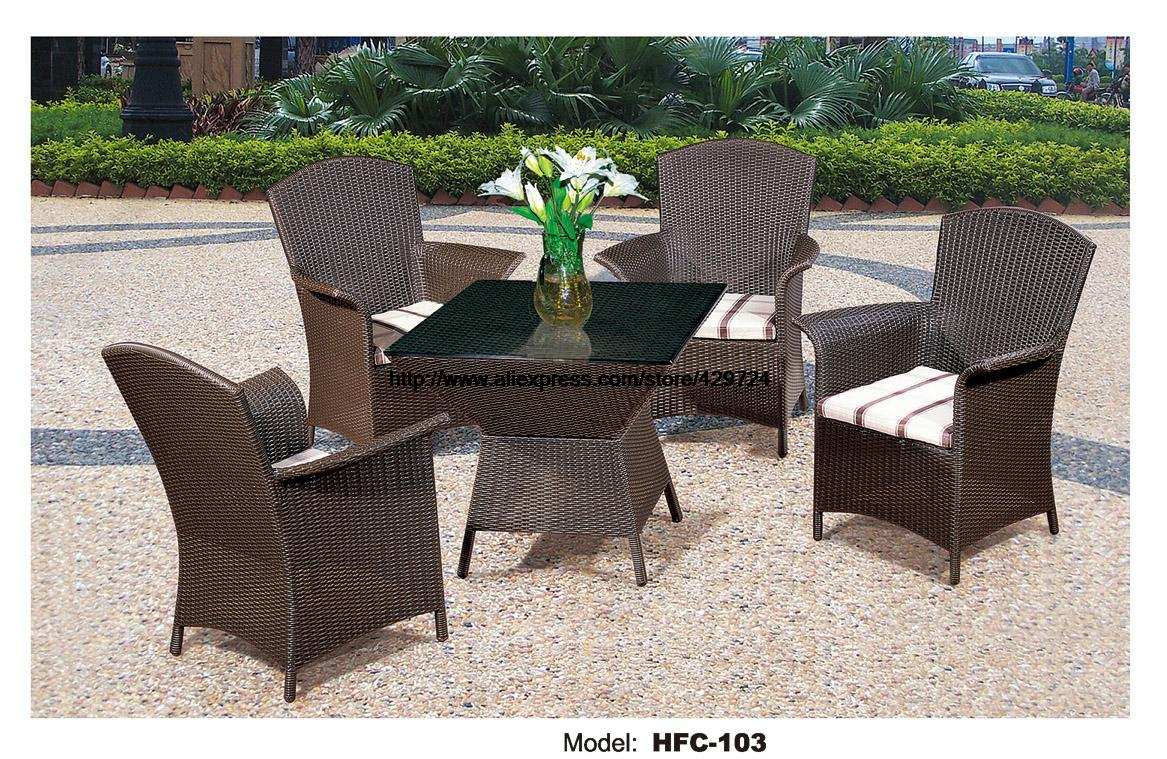 Comfortable High Back Armest Chairs Creative Table Rattan Garden Set Leisure Balcony Villa Furniture Rattan Outdoor Furniture circular arc sofa half round furniture healthy pe rattan garden furniture sofa set luxury garden outdoor furniture sofas hfa086