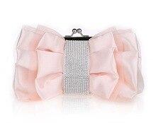 Mode Abendtaschen Silk Bankett Hochzeit Taschen Tageskupplungen Bogen Frauen Kette Umhängetaschen