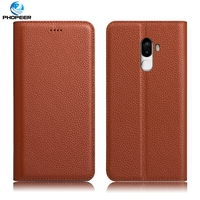 Original PHOPEER Luxury Genuine Leather Case For Ulefone S8 Mobile Phone Stand Filp Cover Case For