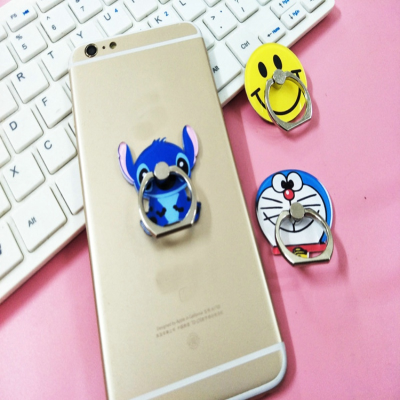 Cute Cartoon stitch car phone holder finger ring stent soporte movil auto oppo for iphone x 7 8 xiaomi mi 8 Car phone