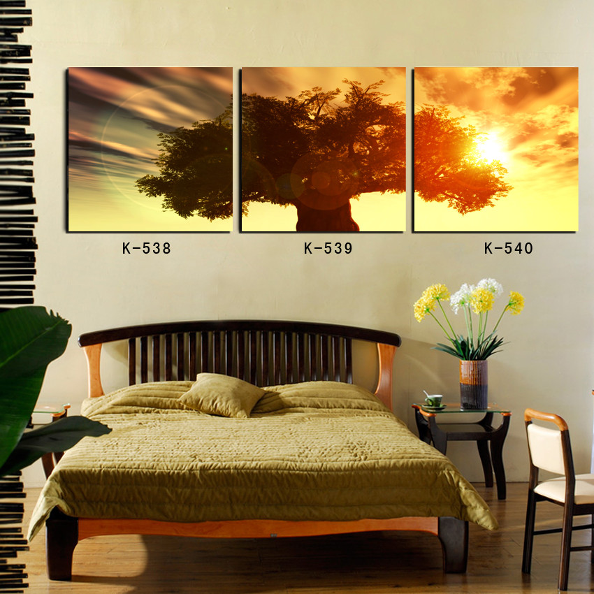 Wall Decor Home Goods: WALL PAINTING For Living Room Decoration 3 Panel Life