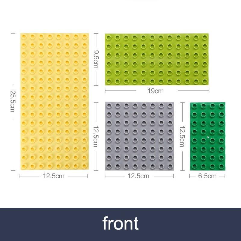 Двусторонние опорные плиты для больших кирпичей, строительные блоки больших частиц, двухсторонняя материнская плата, совместимая с блоком ...