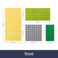 Placas de base laterais dobro para tijolos grandes grande bloco de construção de partículas placa mãe dupla-face compatível com bloco de duplos para o miúdo