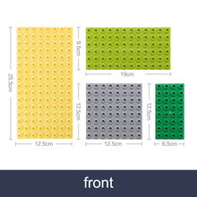 Double side Baseplates for Big Bricks Big Particle Building Block Double-sided Mother Board Compatible With Duplos Block For Kid