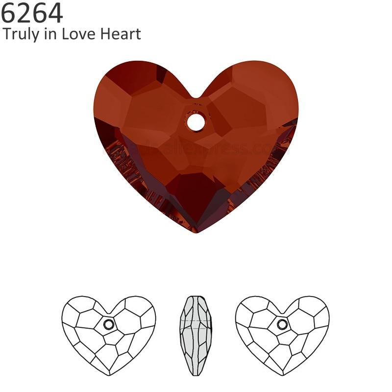 (1 piece) 100% ORIGINAL Crystal from Swarovski 6264 Truly in Love Heart  pendant f811d29b26c4