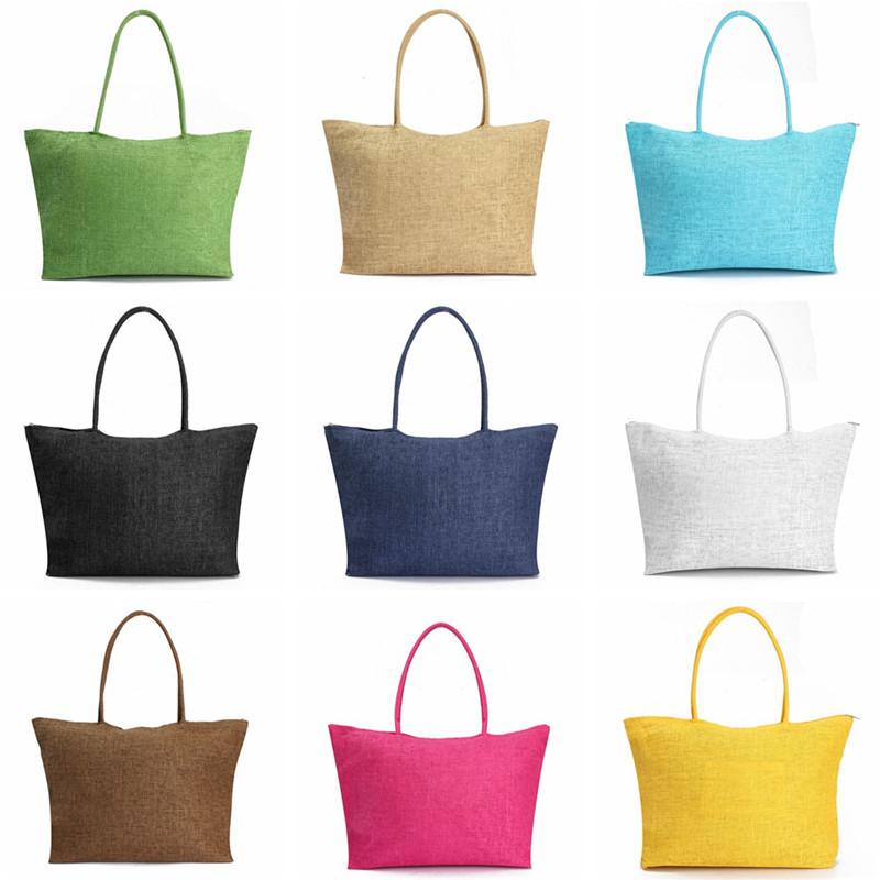 2017 Hot New Design Straw Popular Summer Style Weave Woven Shoulder Tote Shopping Beach Bag Purse Handbag Gift FreeShipping N770 5