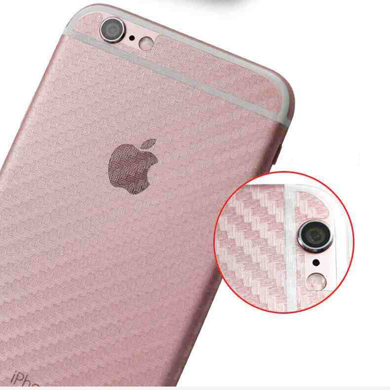 Suntaiho 3D Carbon Fiber Rear Back Screen Protector for iPhone X Phone 5s SE Anti-fingerprint Protective film for iPhone 6s 7 8
