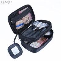 QIAQU High Capacity Cosmetic Bag Makeup Bag Women Travel Organizer Professional Storage Brush Necessaries Make Up