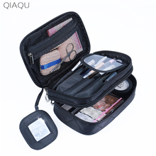 QIAQU High Capacity Cosmetic Bag Makeup Bag Women Travel Organizer Professional Storage Brush Necessaries Make Up Case Beauty