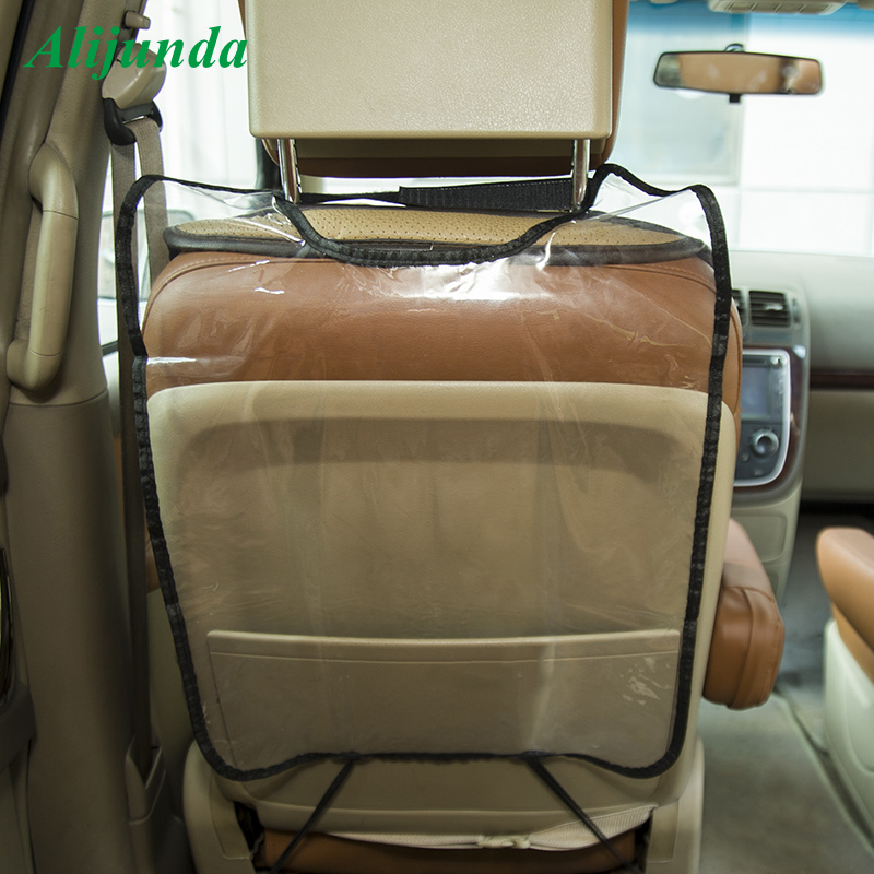 Transparent plastic car seat car rear protector car baby anti-kick cover accessories FOR <font><b>Kia</b></font> Hyundai ix35 iX45 iX25 i20 i30 image