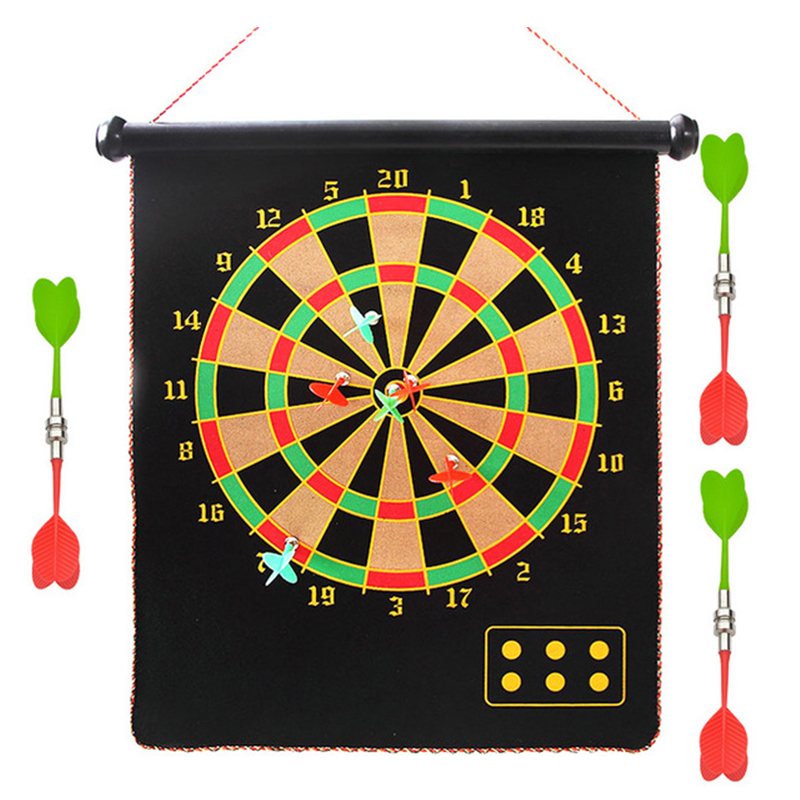 12/15/17 Inches Magnetic Dart Board Darts Suit Double Sided Flocking Dartboards Darts Plate Of Safety Dart Safety Game Board Toy