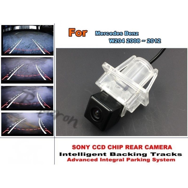 For Mercedes Benz C Class MB W204 2008 ~ 2012 Smart Tracks Chip Camera / HD CCD Intelligent Dynamic Parking Car Rear View Camera for renault duster 2010 2014 smart tracks chip camera hd ccd intelligent dynamic parking car rear view camera
