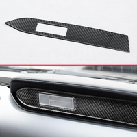 Car Styling Genuine Carbon Fiber Trims For Ford 2015 2018 Mustang Front Passenger Dashboard Nameplate Interior Cover Accessories