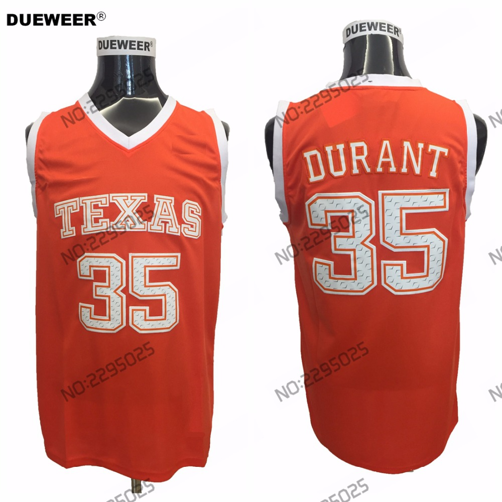 140a0854 ... shop dueweer mens retro kevin durant college basketball jersey orange texas  longhorns 35 kevin durant university