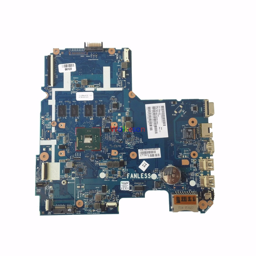 SHELI FOR HP Pavilion 14-AC 14-AC159NR Laptop Motherboard W/ N3050 CPU 814050-601 SKITTL10-6050A2730201-MB-A01 4GB RAM Test Oke