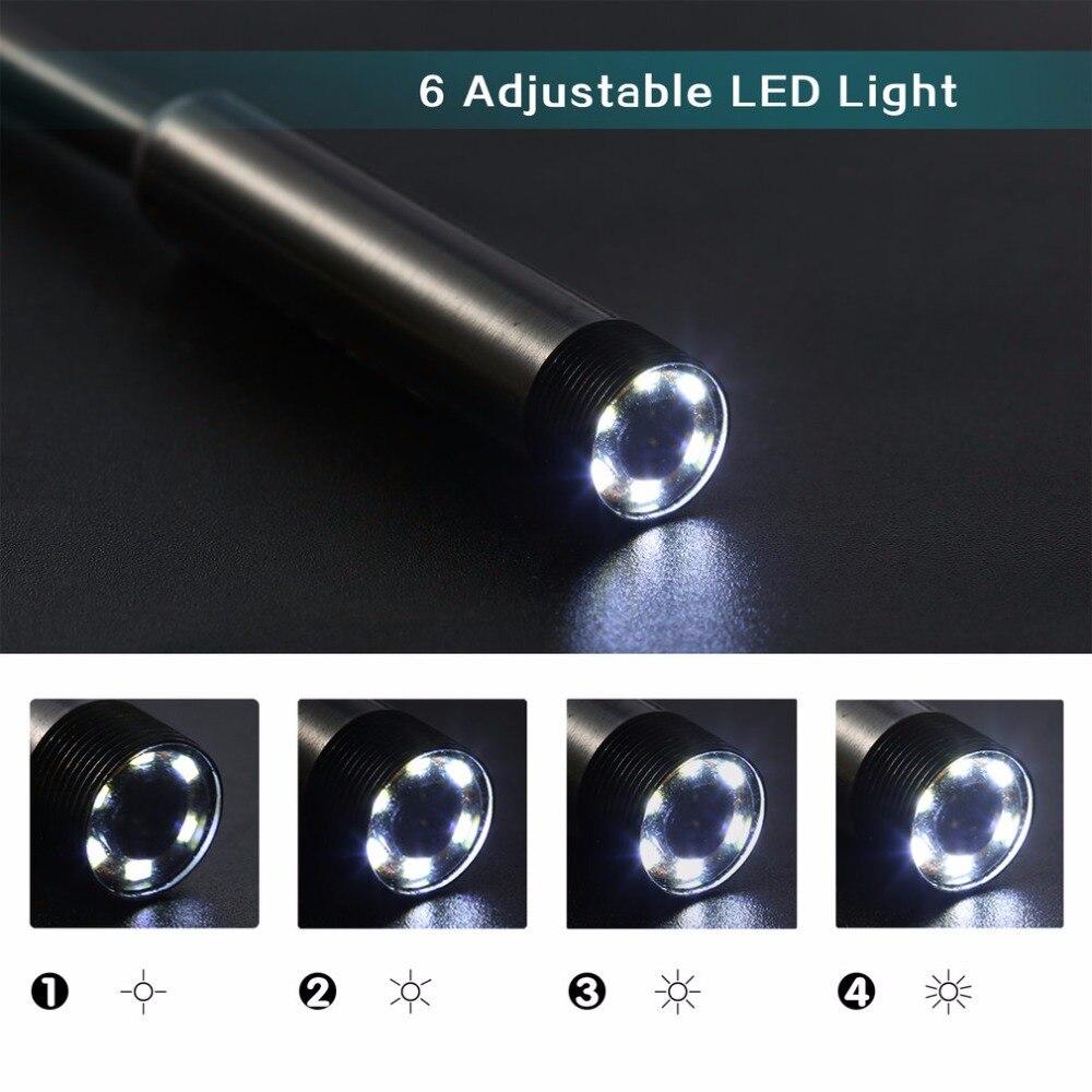 1 pz Hot 2 M 7mm 6 Videocamere Impermeabile Dell'endoscopio del USB LED Periscopio Video Snake Ispezione