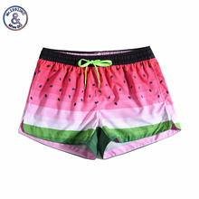 Women Summer Shorts Casual Drawstring Waistband Watermelon print Beach Style Swim Pool with Pocket Loose Female Shorts boys tiger print vest with ornate print drawstring shorts